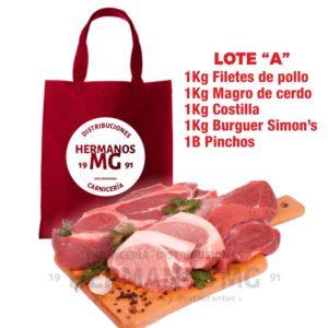 1Kg Filetes de pollo 1Kg Magro de cerdo 1Kg Costilla 1Kg Burguer Simon's 1B Pinchos